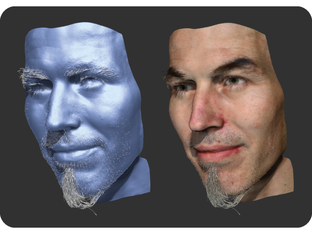 Coupled 3D Reconstruction of Sparse Facial Hair and Skin | Disney