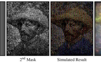 Dispersion-based Color Projection using Masked Prisms