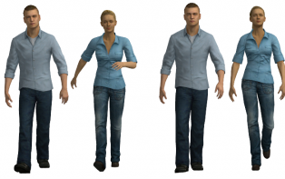 Evaluating the Distinctiveness and Attractiveness of Human Motions on Realistic Virtual Bodies