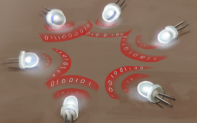LED-to-LED Visible Light Communication Networks