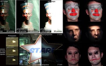 Recent Advances in Projection Mapping Algorithms,Hardware and Applications