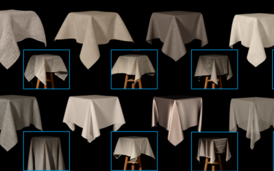Sackcloth or Silk? The Impact of Appearance vs Dynamics on the Perception of Animated Cloth