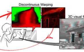 StereoBrush: Interactive 2D to 3D Conversion Using Discontinuous Warps