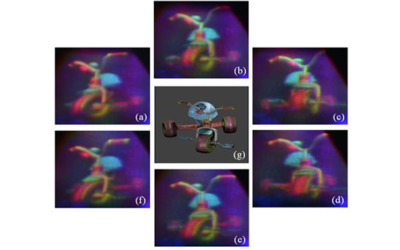 A coarse integral holography approach for real 3D colour video display