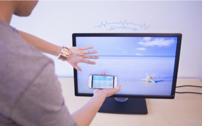 EM-Comm: Touch Base Communication via Modulated Electromagnetic Emissions