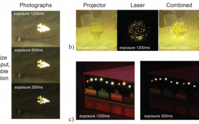 Geometric and Photometric Consistency in a Mixed Video and Galvanoscopic Scanning Laser Projection Mapping System