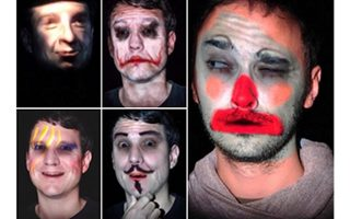 Makeup Lamps: Live Augmentation of Human Faces via Projection